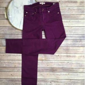Tory Burch Super Skinny Purple Jean Size 27
